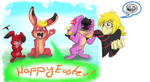 Easter bunnies by killer-kimmie