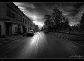 Rainy evening on my street I by wchild