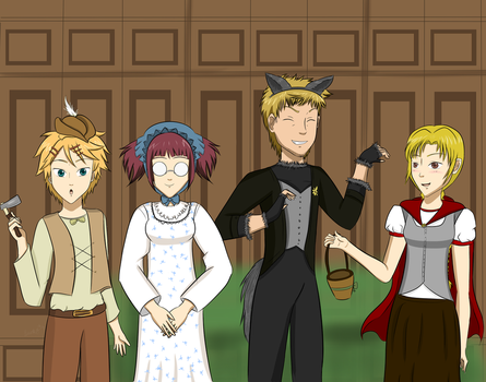 Halloween Contest Entry-Little Red Riding Servants by LuckyDragonfly