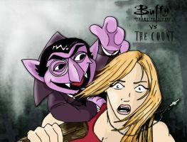 buffy vs the count by killerincdesigns