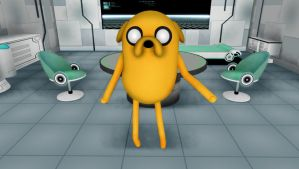 Jake the Dog - Adventure Time - MMD by narutoxbase
