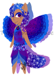 Galaxy Winged Catgirl TC1 Adopt--OPEN by Tangerineandpuce