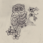 Tattoo Owl by N-2tt