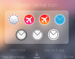 Flader : Airmail icon app by scafer31000