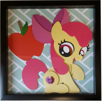 FOR SALE~ Apple Bloom Shadow Box by Magpie-pony