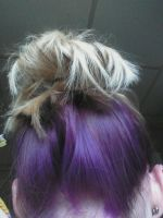 purple hair!! by wittlecabbage