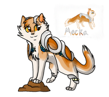 Mecka(re-designed OC) by SoulCats