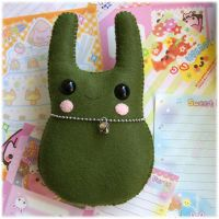 Olive Green Bunny Plush by Keito-San