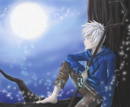 FA : Jack Frost, Looking at the Moon by Wildgrape