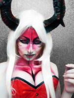 Demon makeup by TsunamiTheWave