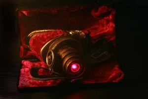Steampunk LED eye patch by Watts-Industries