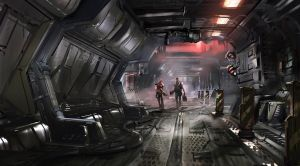 Space Corridor by JohnPowell