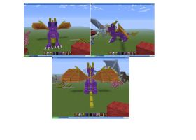 My Spyro In Minecraft by legendarydragonstar