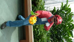 Mario and a Flower by SharinganWeasalLight
