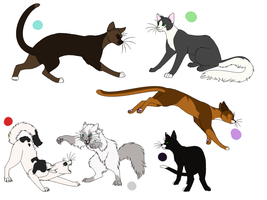 Offer Adopts- Cats Set 1 closed by LadyLirriea