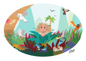Hazel in the jungle by CaterinaFrata