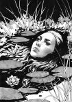 Where the Wild Roses Grow, Daily Ink IX [SOLD] by DjamilaKnopf
