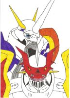Gallantmon and Omnimon by PrincessRoyal