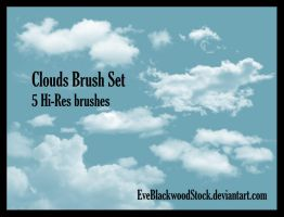 Clouds Brush Set by EveBlackwoodStock
