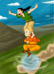 Tenzin And Lin As Kids- Faster! by Bonez1925