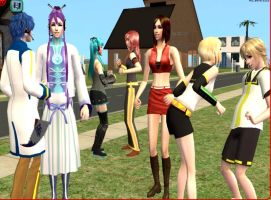 Preview. Vocaloid in Sims 2 by NegativeDanna