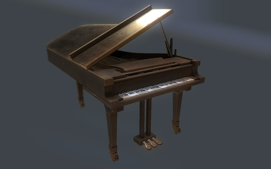 Piano Low Poly by dudealan2001