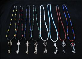 Kingdom Hearts Keyblade Necklaces by RebelATS