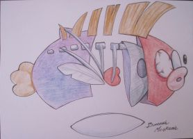 Mario Dissection Series: Flying Fish by Bunneahmunkeah