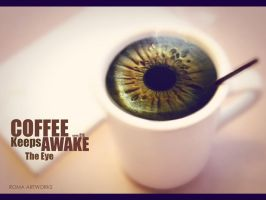 Coffee keeps the eye awake by ROMAgfx