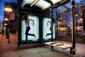 Bus stop. by marythebroodingfairy