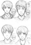 SJ Manga portraits for college 1 by CheekyFlower
