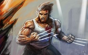WOLVERINE by darkeyez07