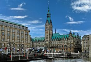 City Hall in Hamburg III by pingallery