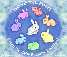 Baby Rainbow Bunnies! by Kat-Nicholson