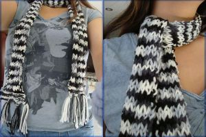 Black and White Scarf by Ahsayuni-Love