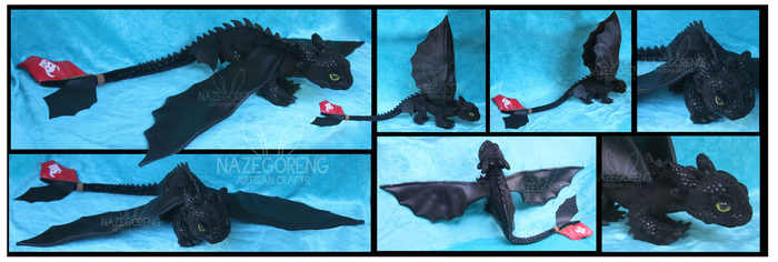 Toothless Custom Plush by Nazegoreng