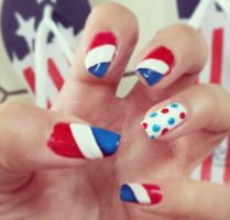 Fourth of July Nailart by LexCorp213