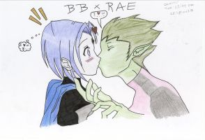 teen Titans Bb and Rae i'll love you for ever by thunderboltdrawer15