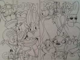 .:.Happy Birthday to Charlie and Jeff.:. by CottonCatTailToony