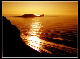 Rhossili Sunset by DMEagle