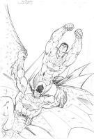 Superman Batman ACTION by jpm1023