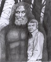 Bionic Man and Bigfoot by westernman