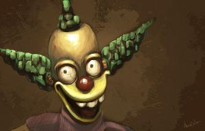 Retarded Krusty by Maiolo
