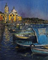 Dusk Falls On Procida Fleet by RandySprout
