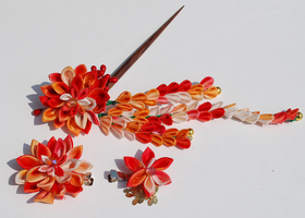 Autumn Harvest. Kanzashi. by hanatsukuri