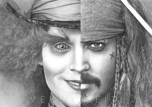 Two faces of Johnny Depp by VencaSeitl