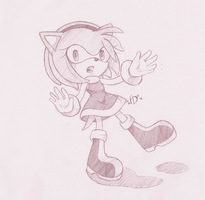 Amy the Hedgehog by xxfreedreamerxx