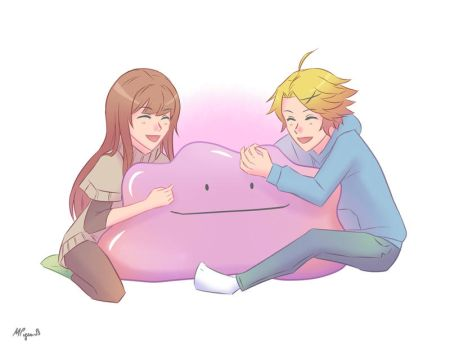 Yoosung and MC with Ditto 1 by monsieurpigeon