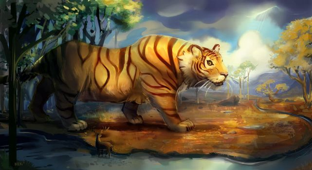 Giant Plains Tiger by Avibroso