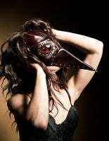 Steampunk leather mask - Plague Doctor - Pestarzt by IsilWorkshop